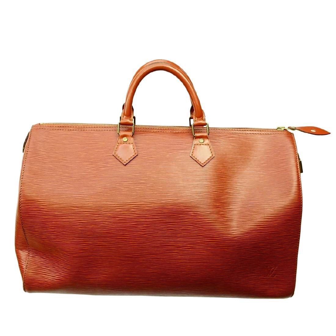 Louis Vuitton Tan Epi Leather Speedy 40 Bag - 2