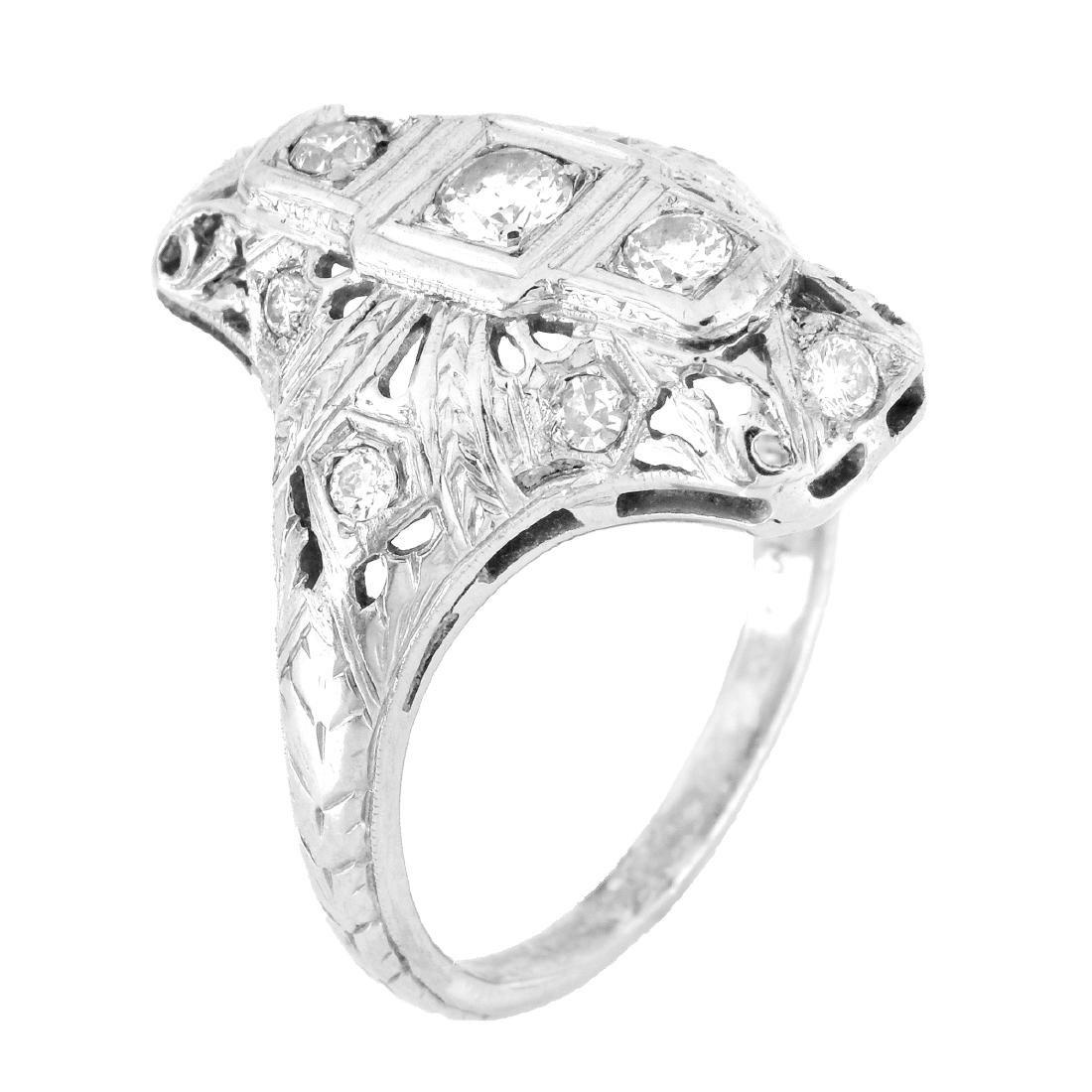 Art Deco Diamond and 18K Gold Ring