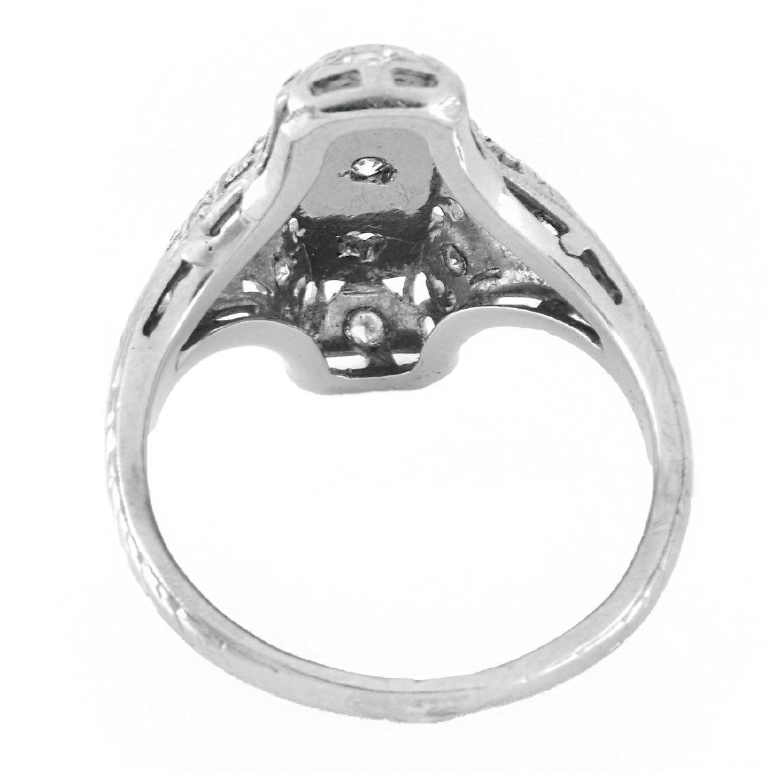 Art Deco Diamond and 18K Gold Ring - 4