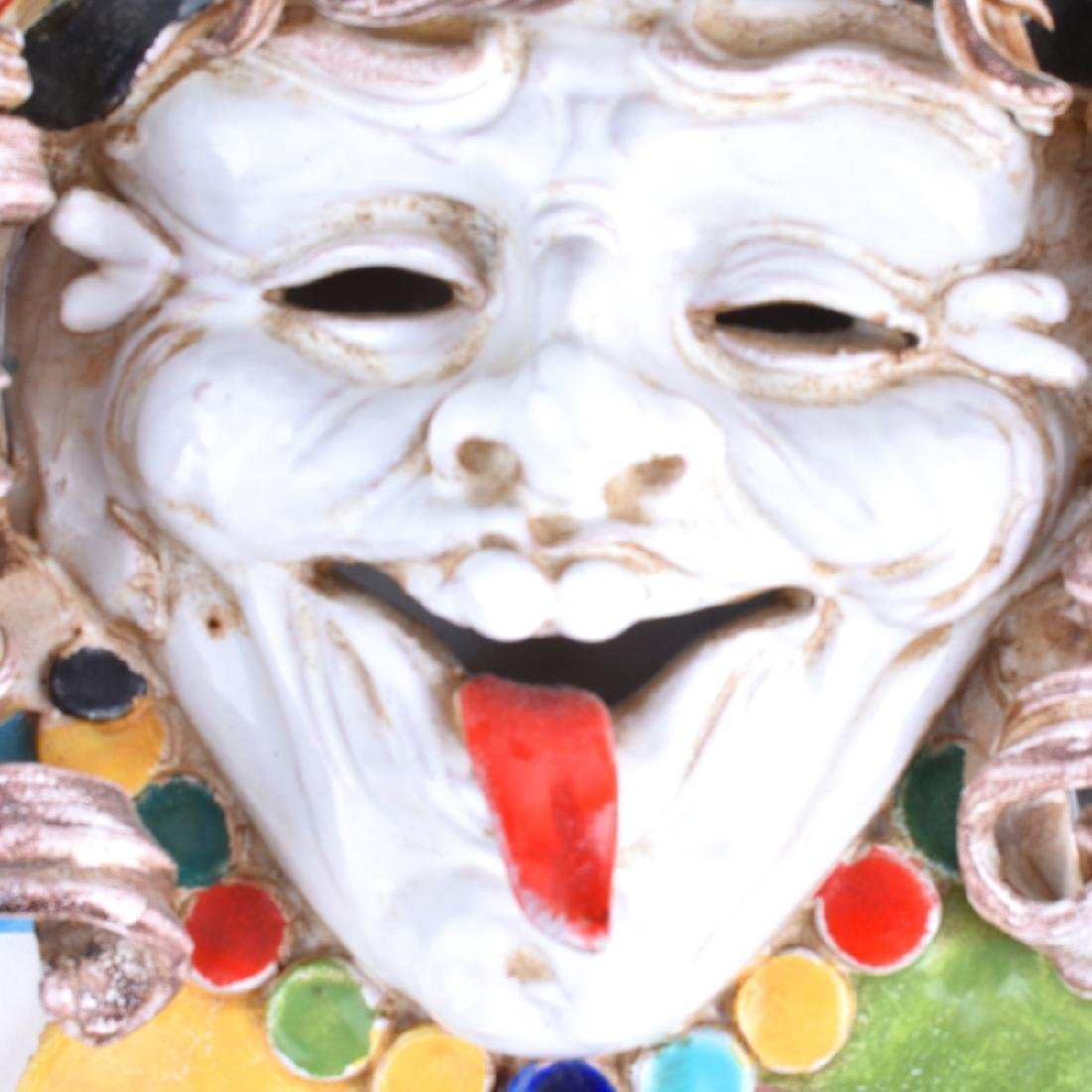 Vintage Perseo Italy Pottery Jester Head - 3