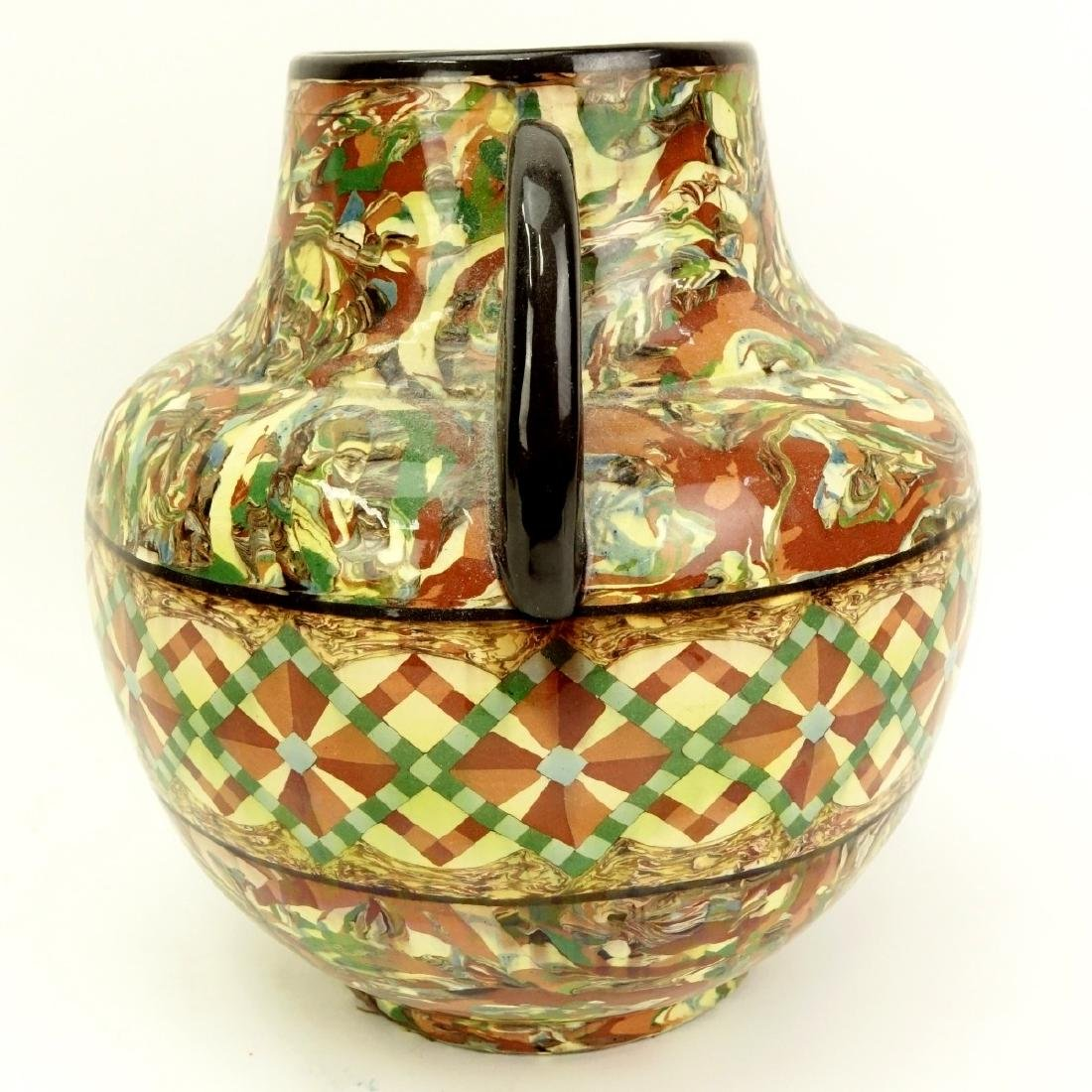 Modern Greek Style Handled Glazed Pottery Jar - 3