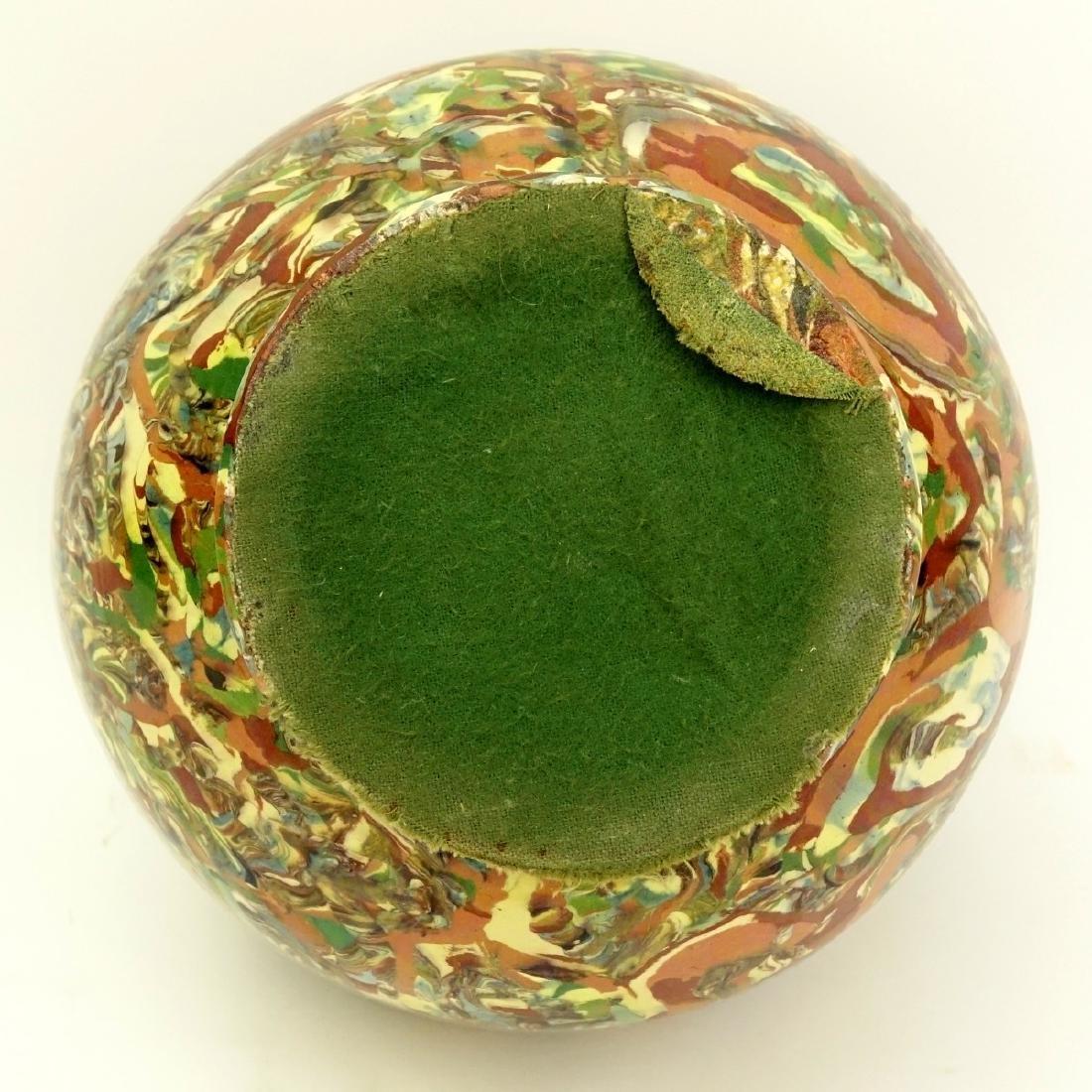 Modern Greek Style Handled Glazed Pottery Jar - 4