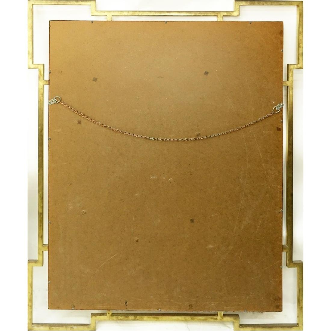 Mid 20th Century Brass and Faux Marble Mirror - 2