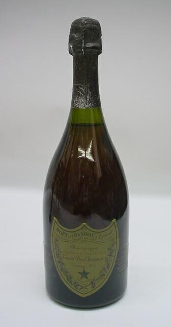 2: Dom Perignon Vintage 1975 Champagne 750 ML. Moet et