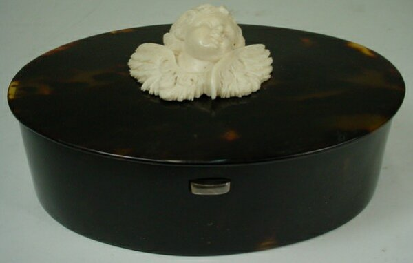 17: Victorian English Vermiel Sterling Ivory Faux Torto