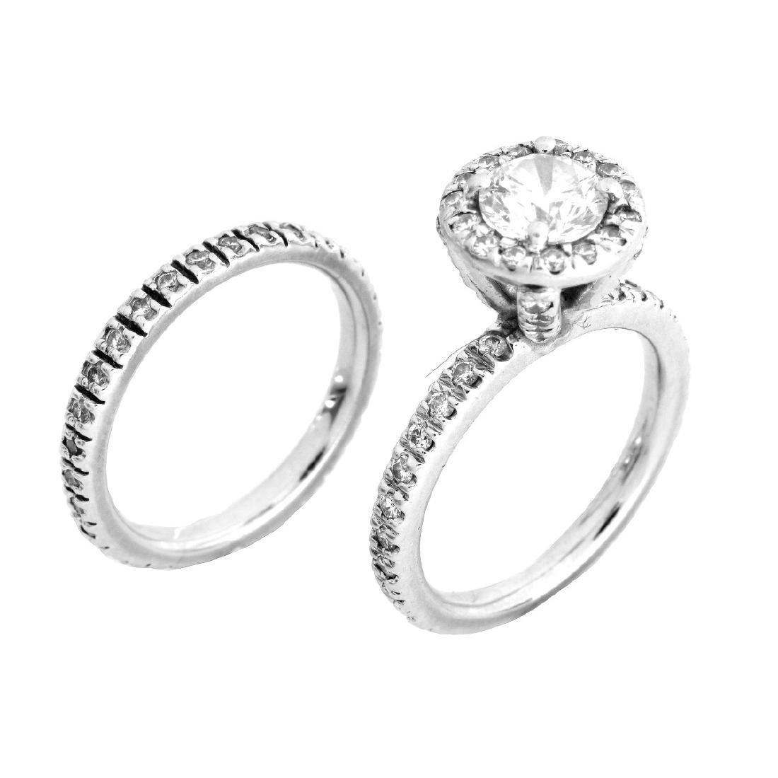 EGL Diamond and Platinum Wedding Set