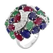 Cartier style Tutti Frutti Ring