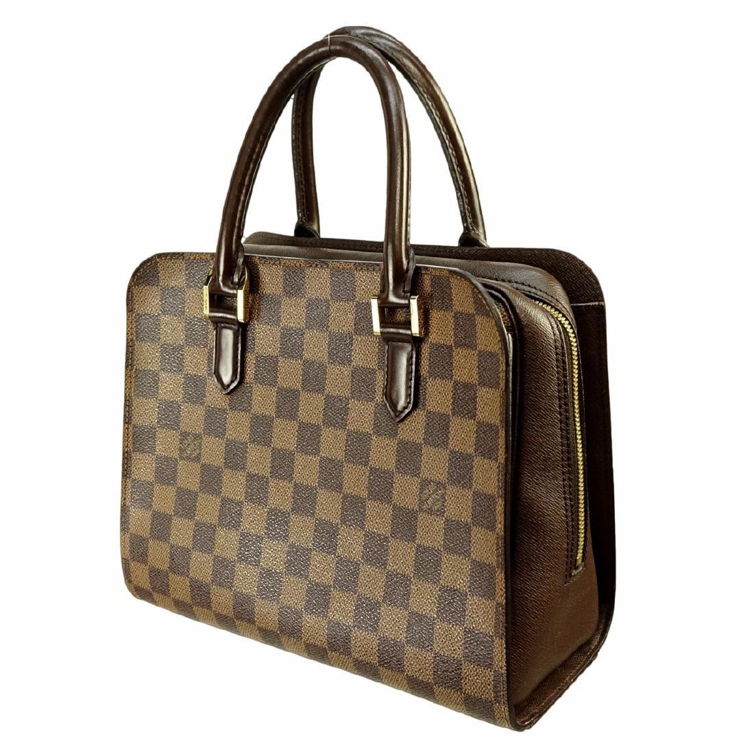 Louis Vuitton Brown Canvas Damier Ebene Triana Bag