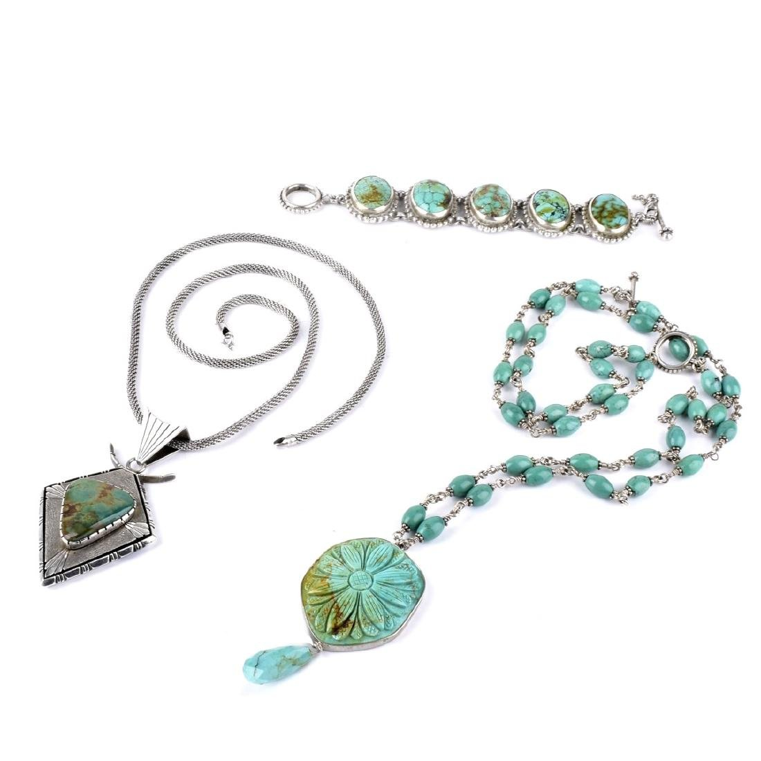 Turquoise and Sterling Jewelry Group