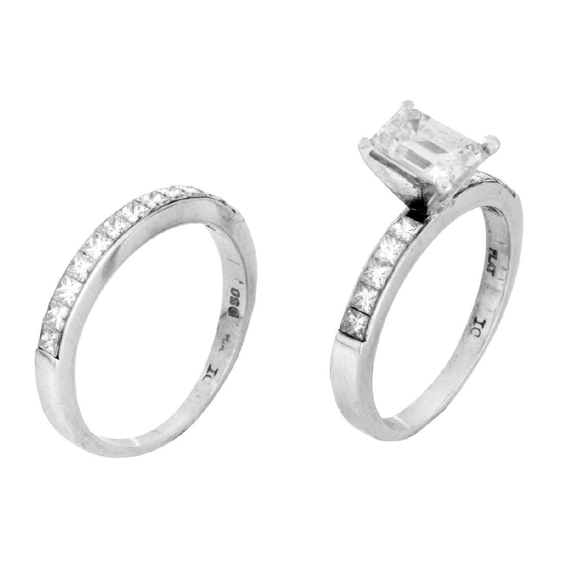 Diamond and Platinum Wedding Set