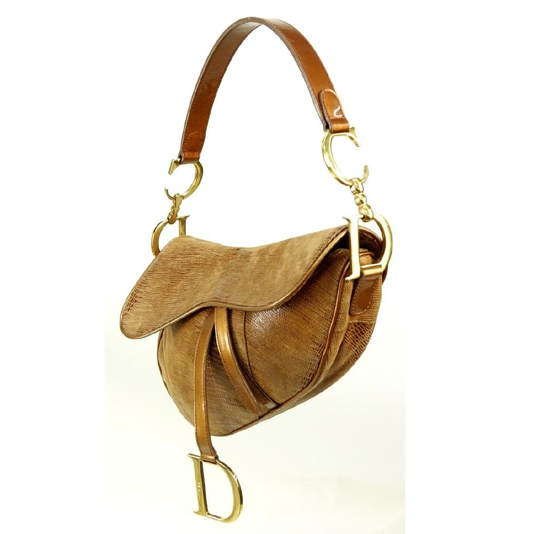 Dior Bronze Leather Saddle Pouch