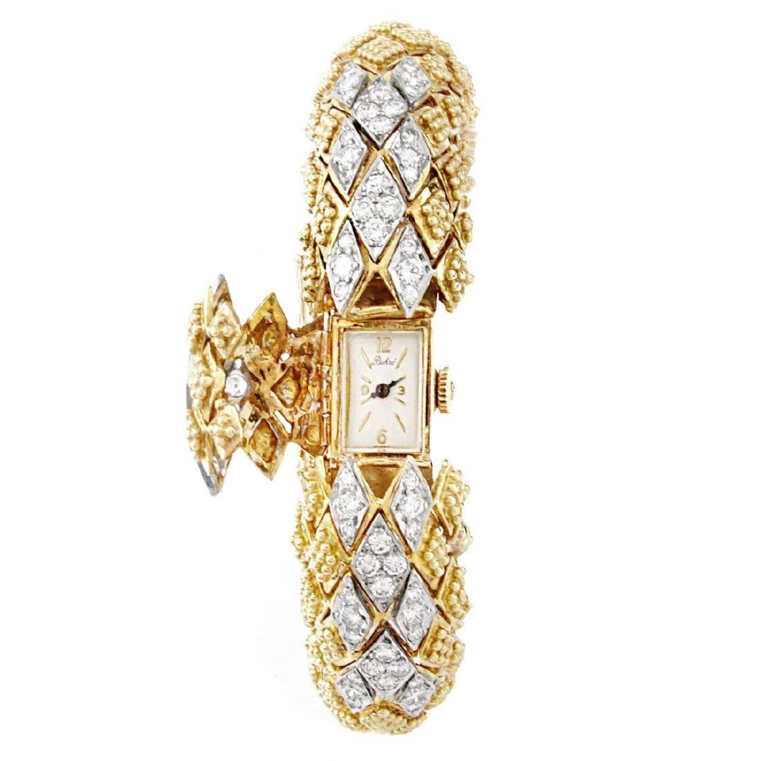 Vintage Diamond and 18K Gold Bracelet Watch