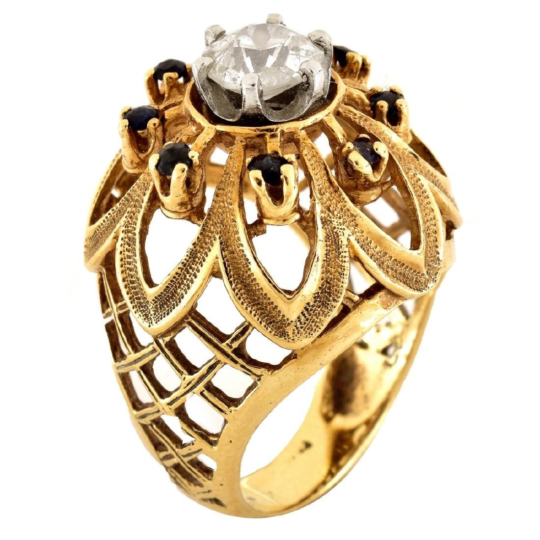 1.0ct Diamond and 14K Gold Ring
