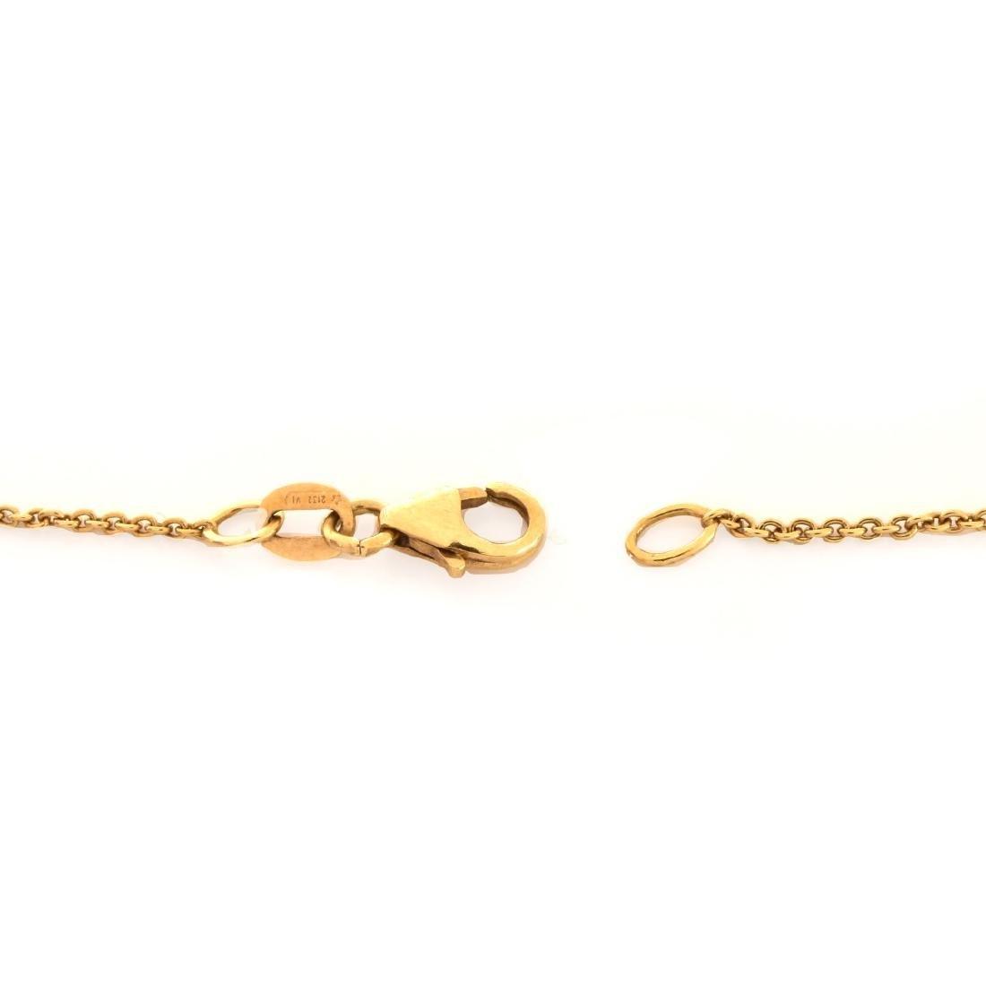 Emerald, Diamond and 18K Gold Pendant Necklace - 4