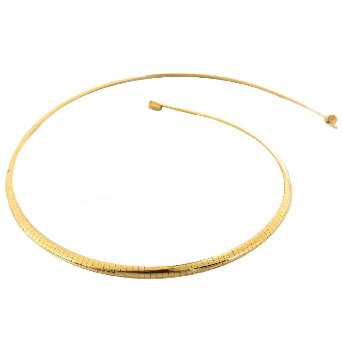 14K Gold Omega Necklace
