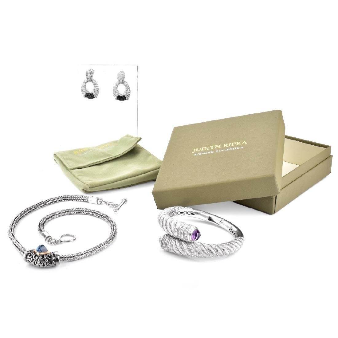 Judith Ripka Necklace, Bracelet and Earring Suite