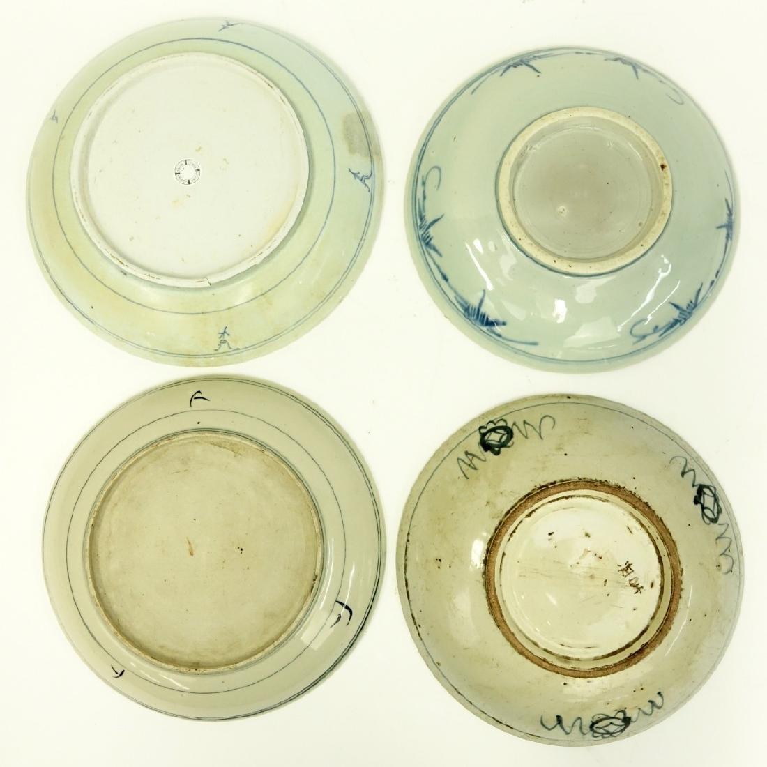 4 Antique Chinese Blue & White Ceramic Bowls - 2