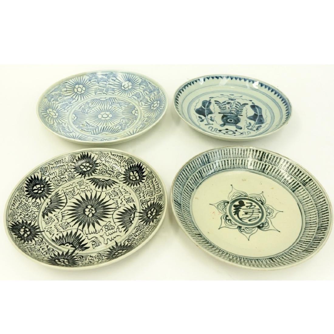 4 Antique Chinese Blue & White Ceramic Bowls - 4