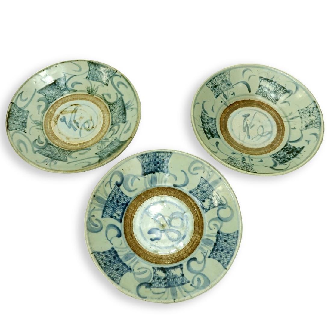 Three (3) Antique Chinese Ceramic Bowls