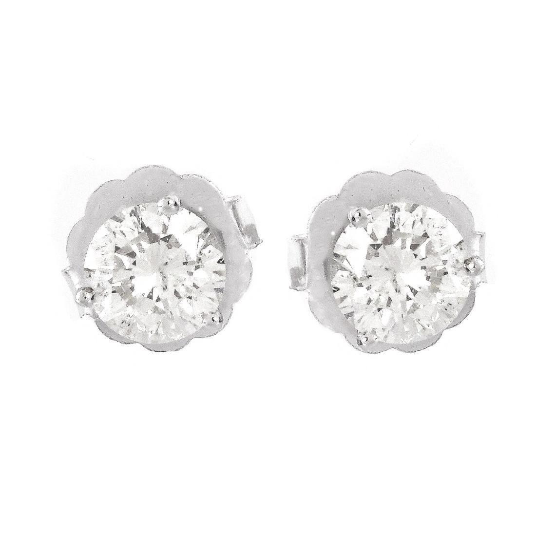 2.09ct TW Diamond Ear Studs