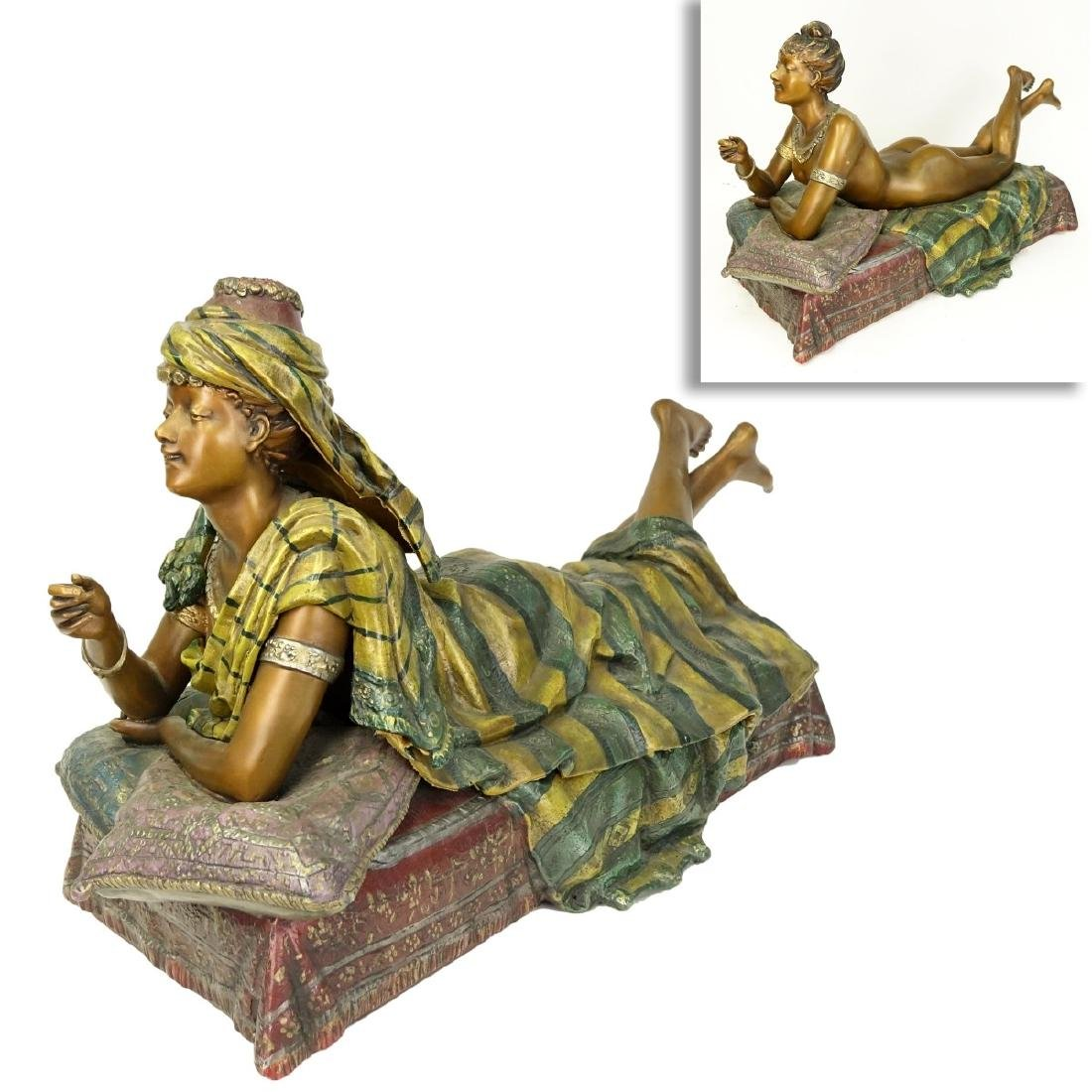 After Louis Hottot (1829 - 1905) Polychrome Figure