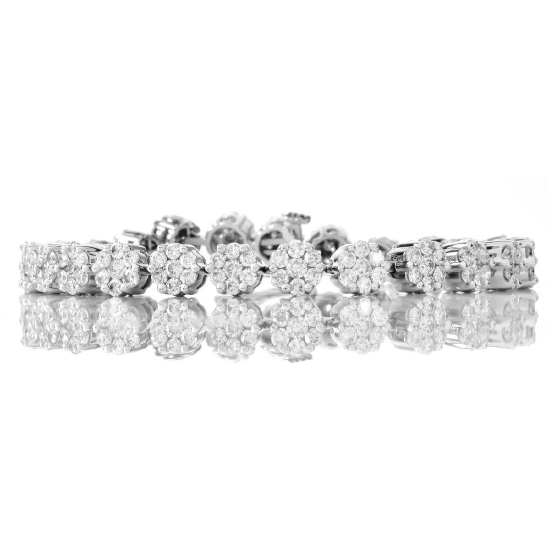 6.50ct Diamond and 14K Gold Bracelet