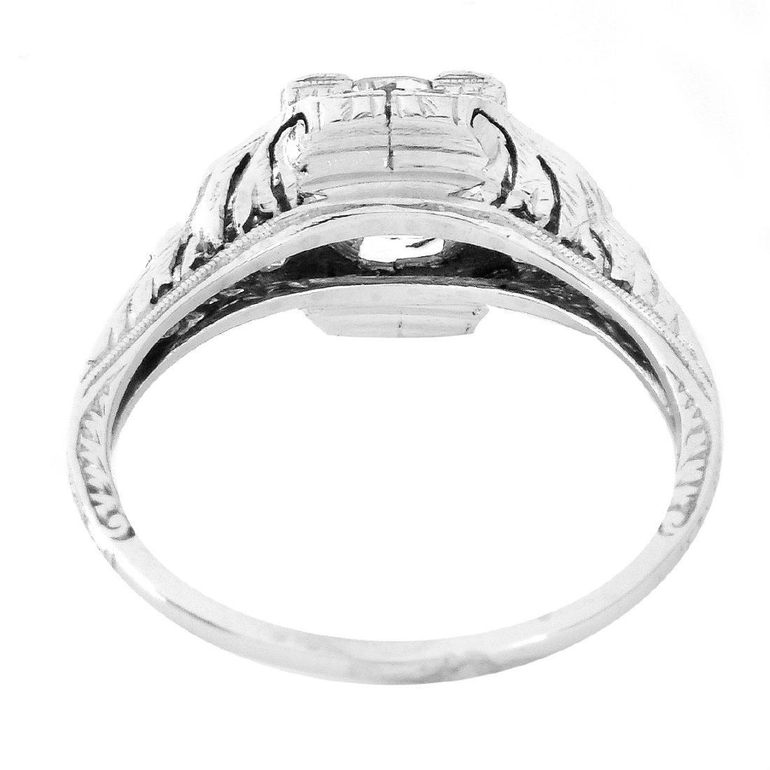 Art Deco 1.30 Carat TW Diamond and Platinum Ring - 4
