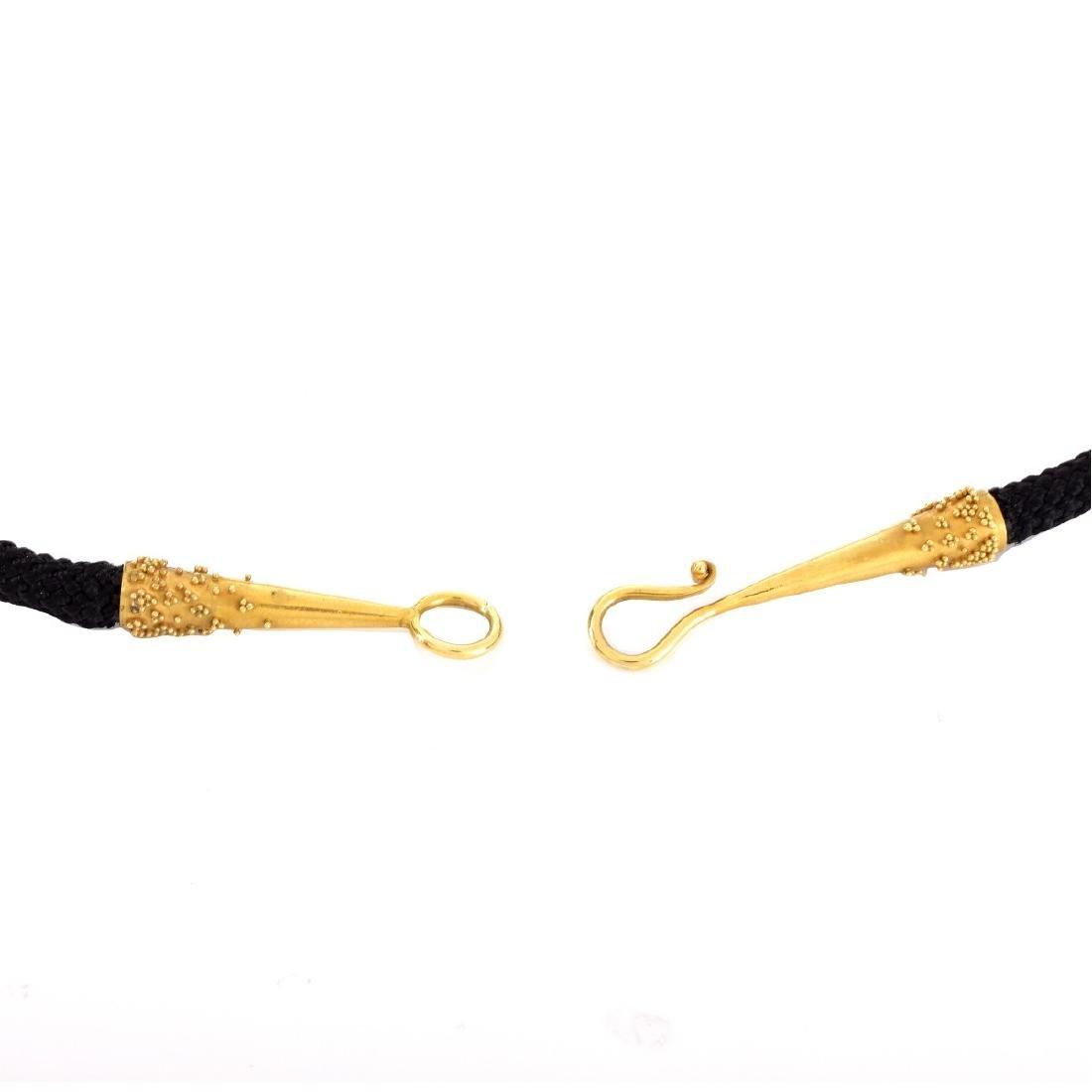 18K Gold Scorpion Pendant Necklace - 4
