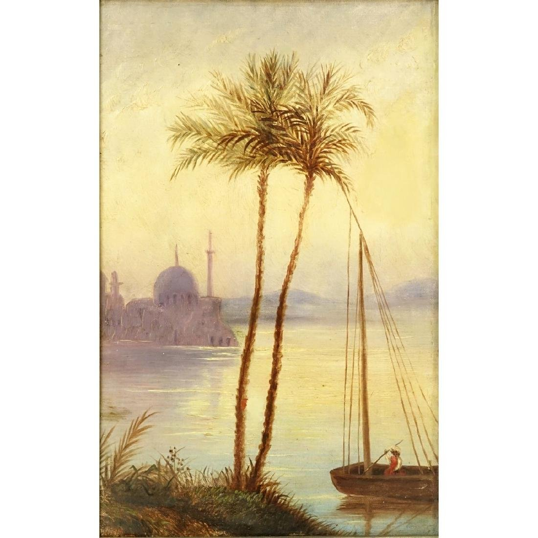 "19/20th C O/C ""Mosque On The Nile"""