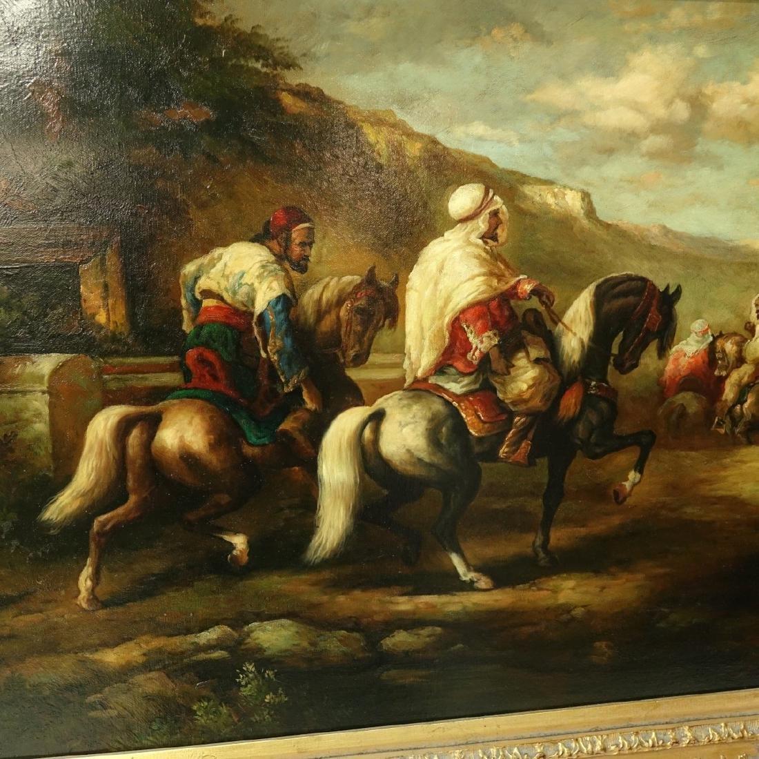 "Modern Orientalist O/C ""Bedouin Horsemen"" - 3"