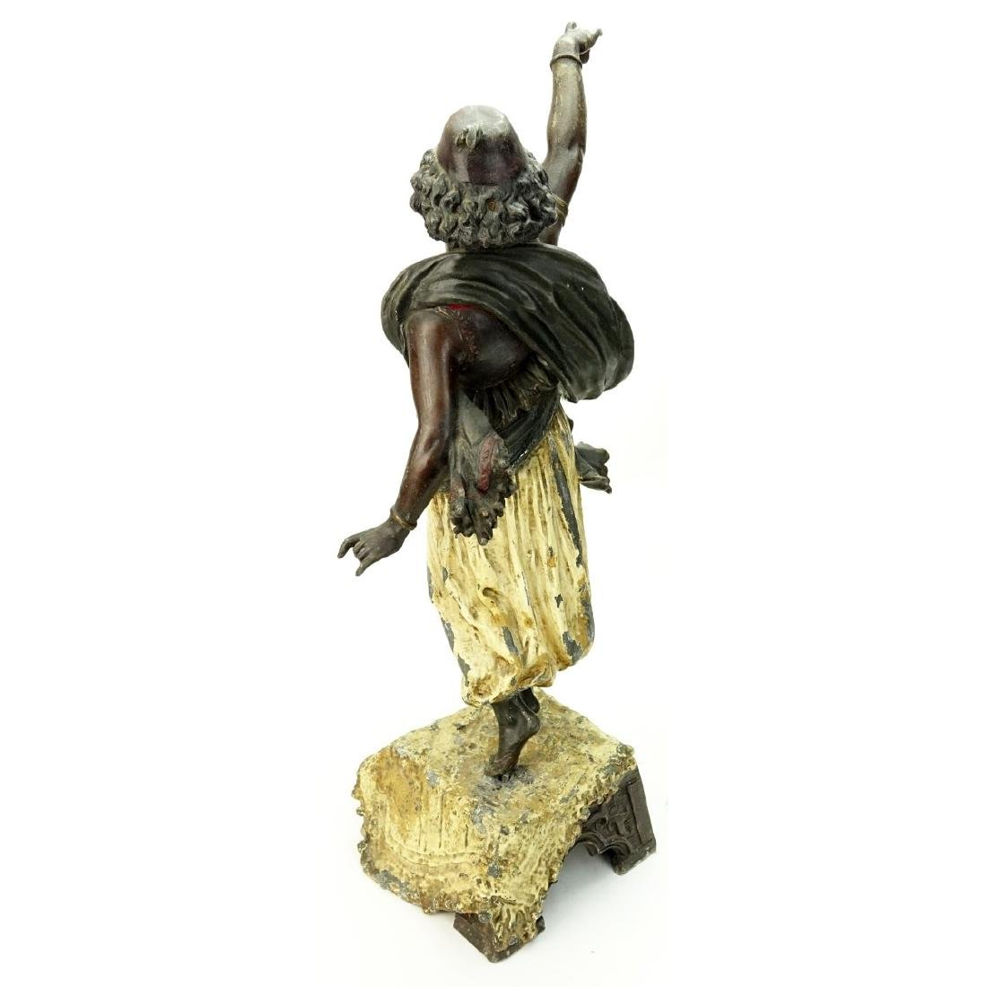 Antique Polychrome Spelter Orientalist Figure - 4