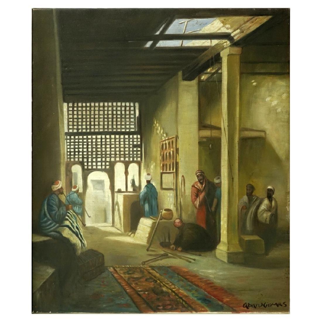 Modern Orientalist School Oil On Canvas