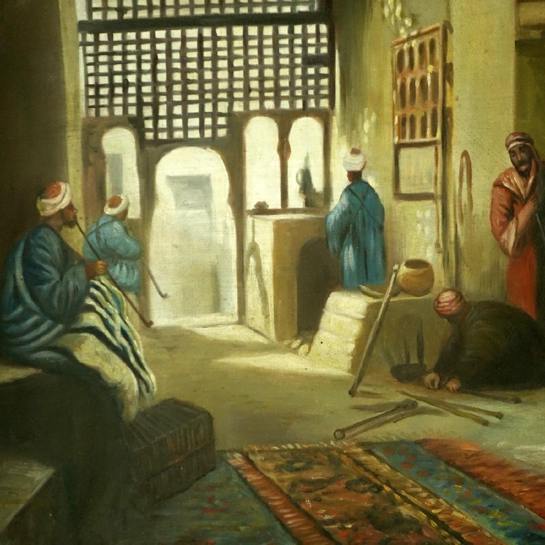 Modern Orientalist School Oil On Canvas - 3