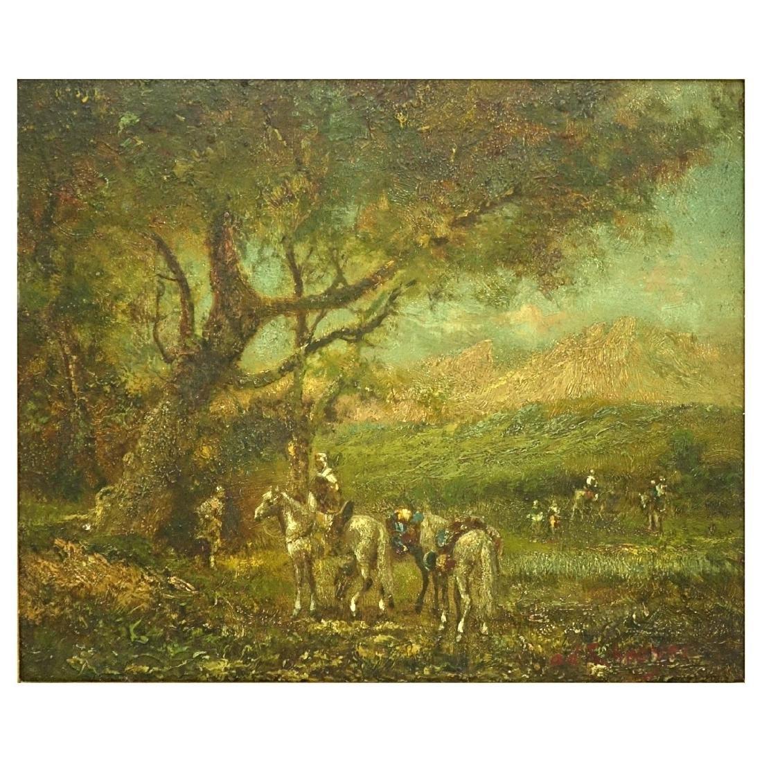 Orientalist School Oil on Panel