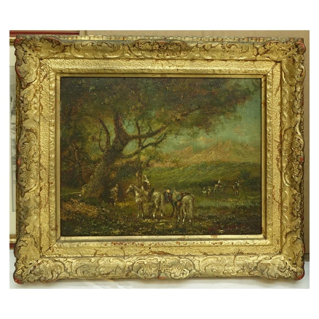 Orientalist School Oil on Panel - 2