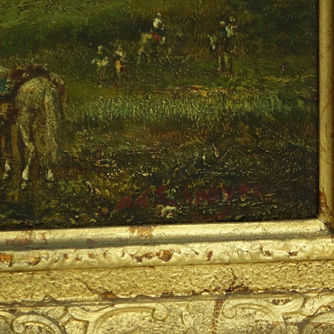 Orientalist School Oil on Panel - 3