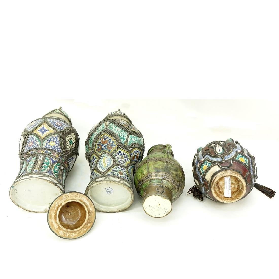 Grouping of Four (4) Moroccan Pottery Jars - 3