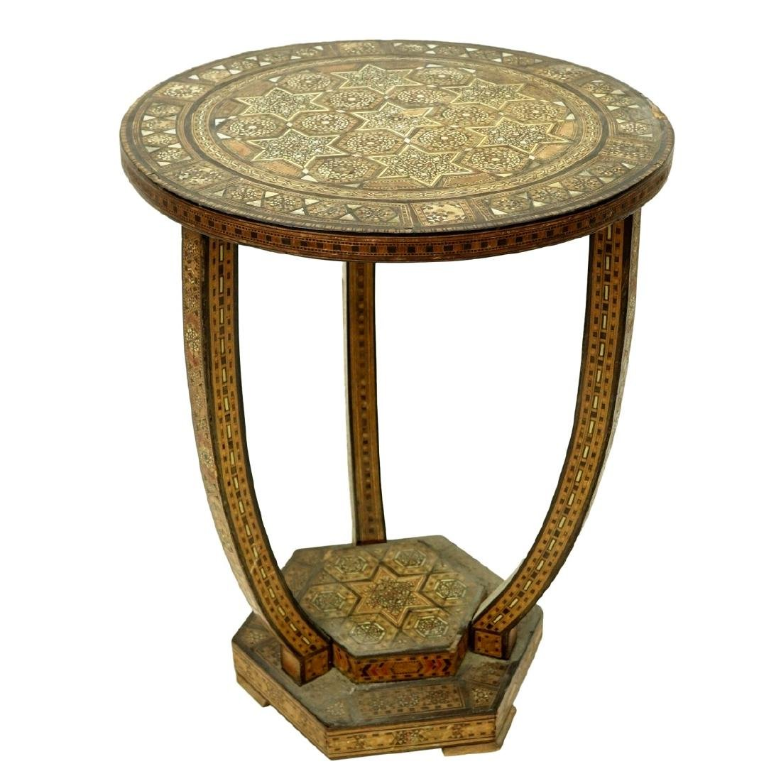 Middle Eastern Inlaid Side Table