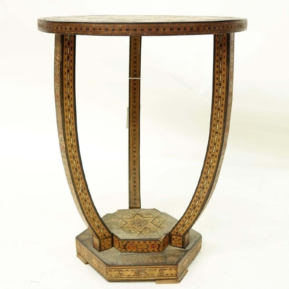 Middle Eastern Inlaid Side Table - 2