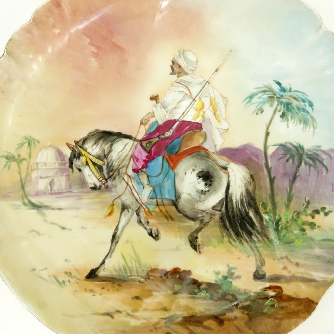 Pair Limoges Orientalist Porcelain Chargers - 3