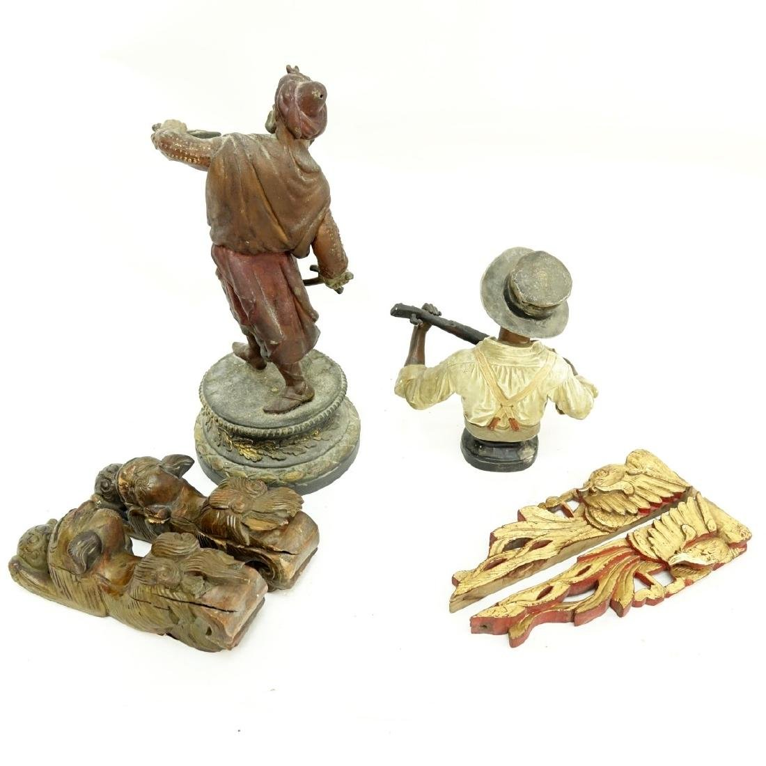 Grouping of Six (6) Vintage Figures and Carvings - 4