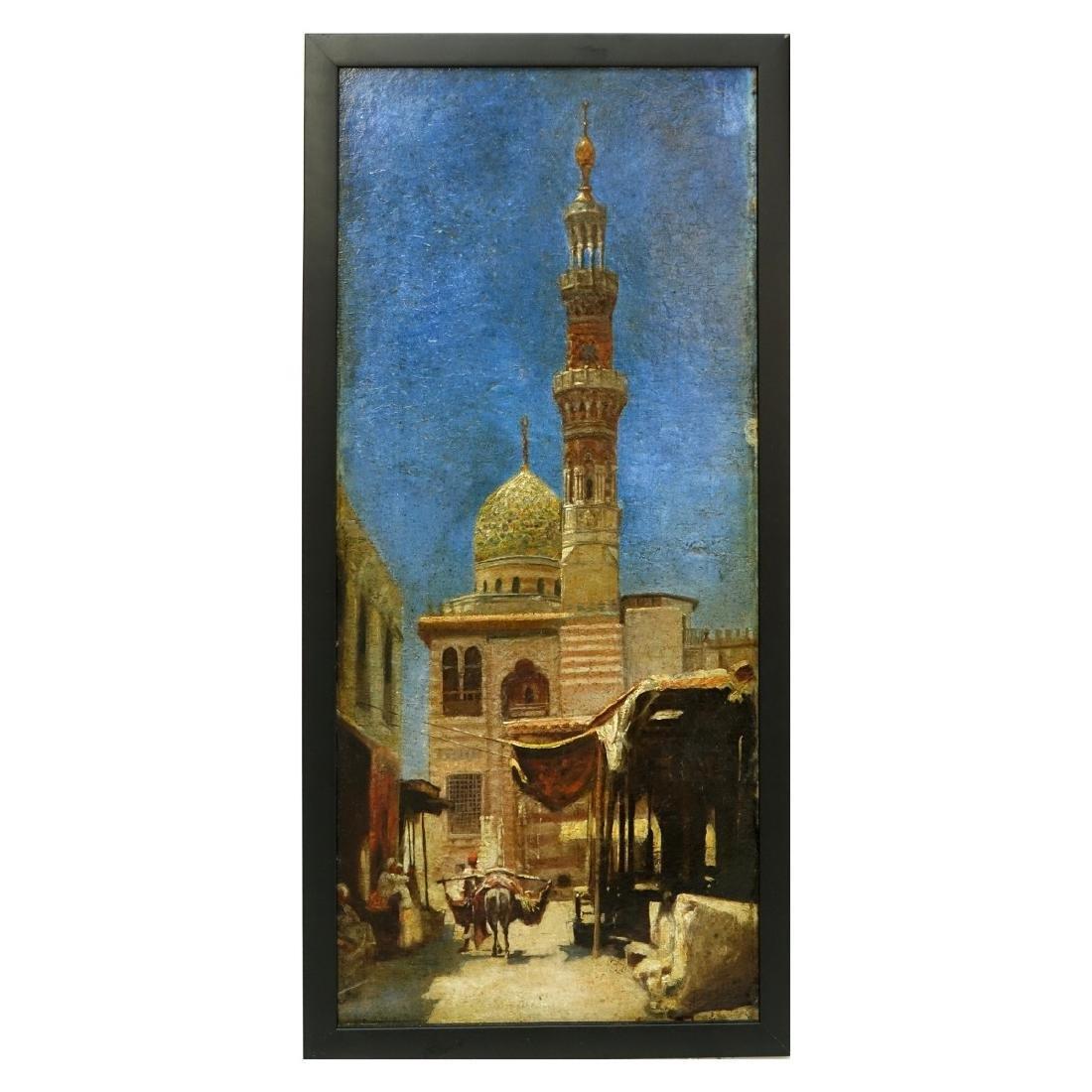 """19/20th C Orientalist School O/B """"Mosque"""" - 2"""