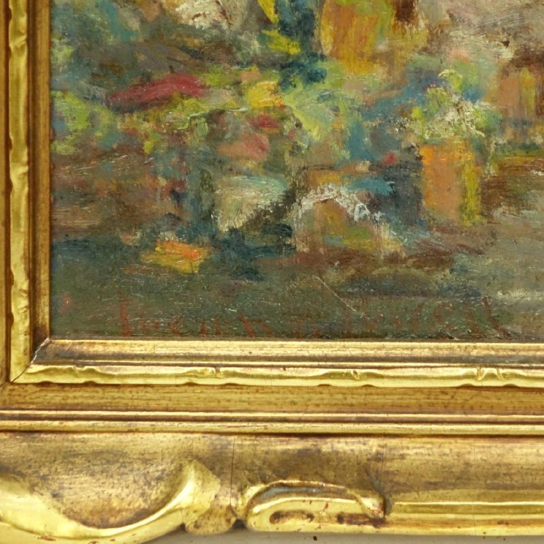 """Lucien Powell (1846 - 1930) O/B """"Market Scene"""" - 3"""
