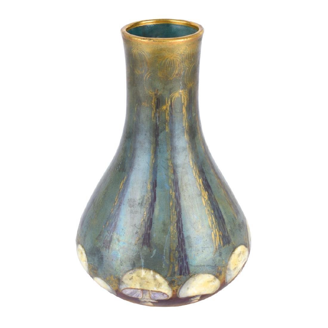 Amphora Turn Teplitz Mushroom Pottery Vase - 2