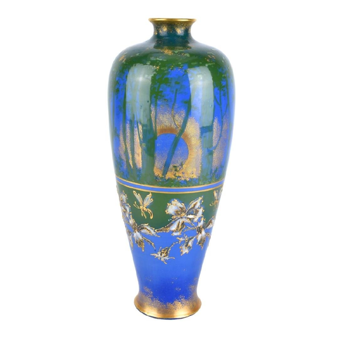 Turn Teplitz Amphora Woodland and Rising Sun Vase