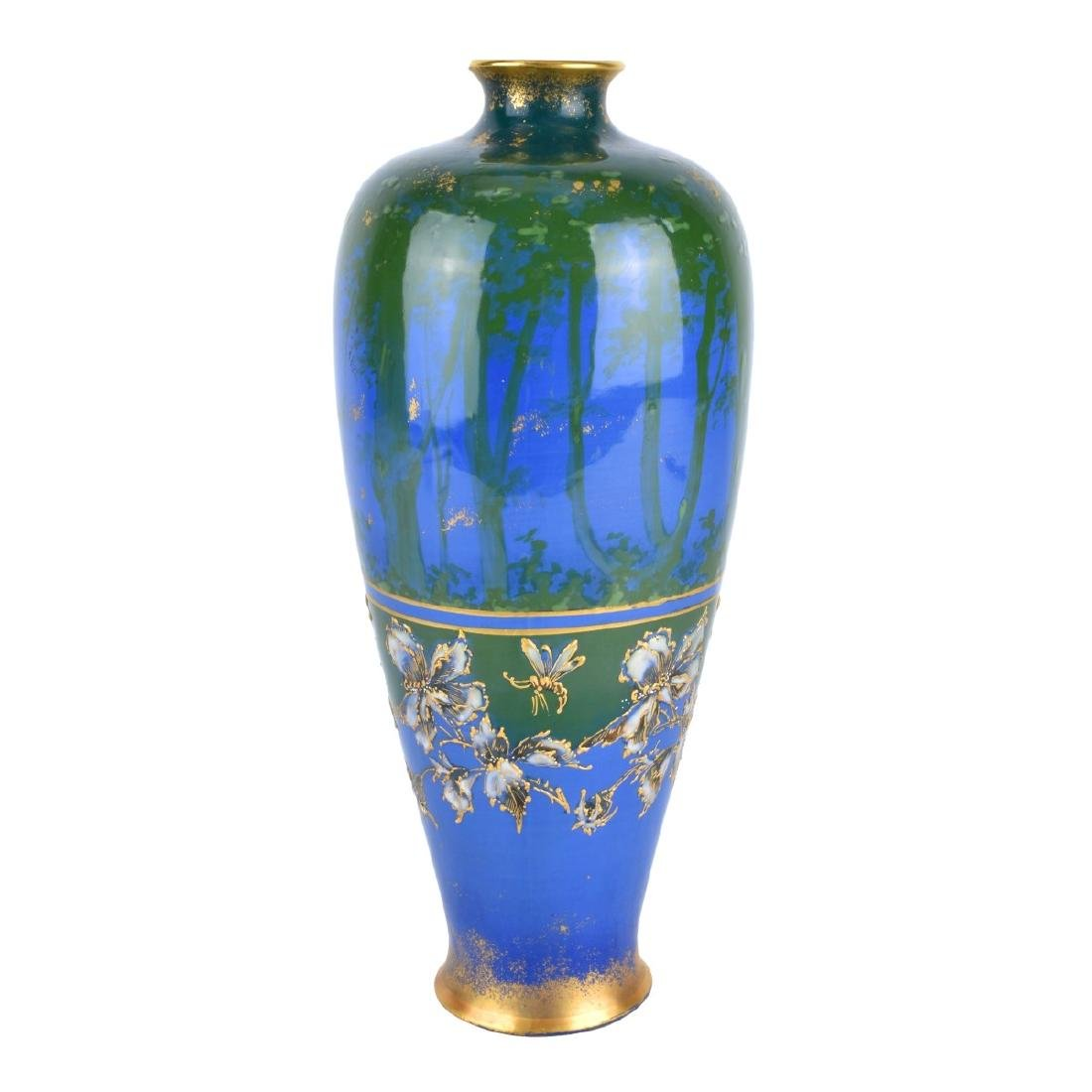 Turn Teplitz Amphora Woodland and Rising Sun Vase - 2