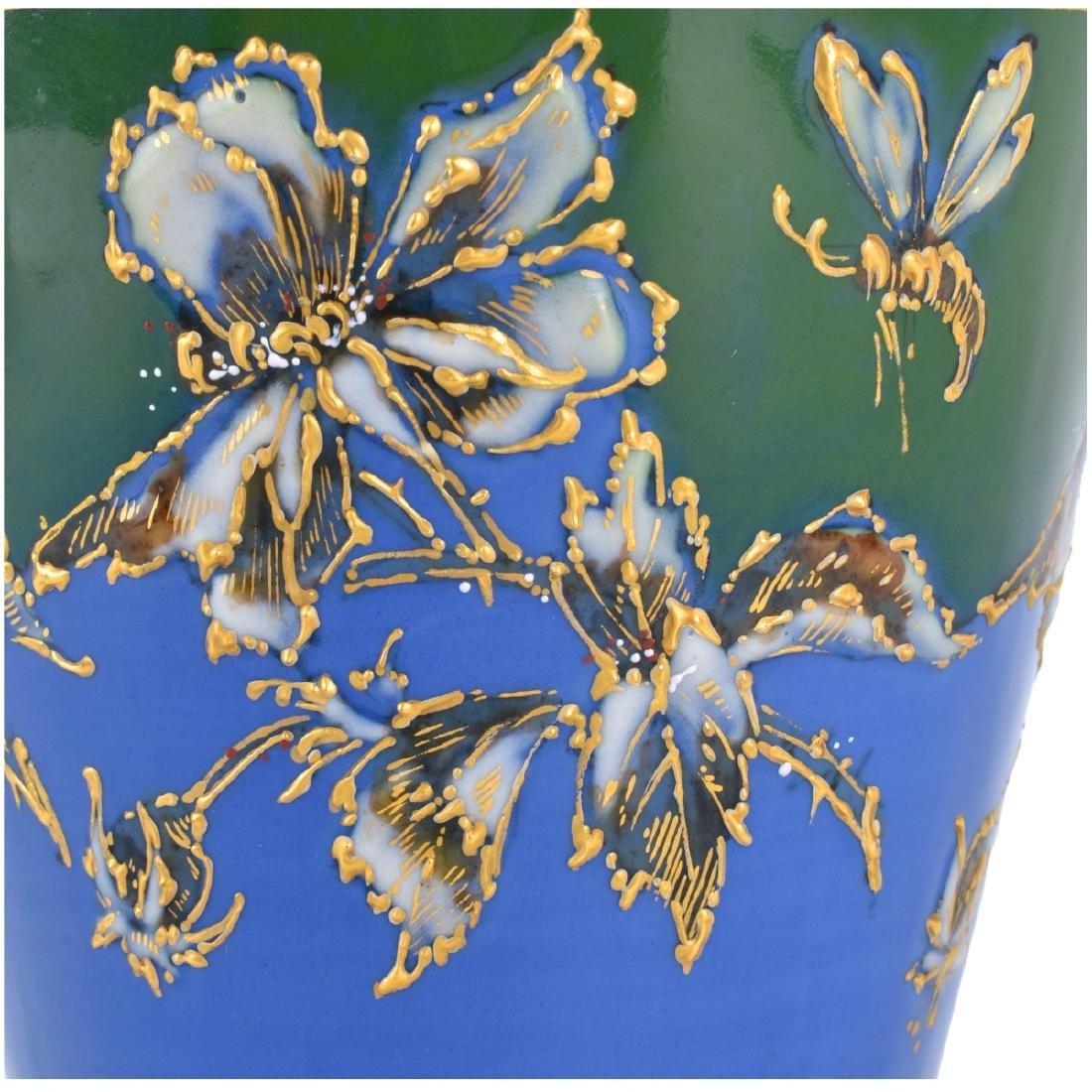Turn Teplitz Amphora Woodland and Rising Sun Vase - 3