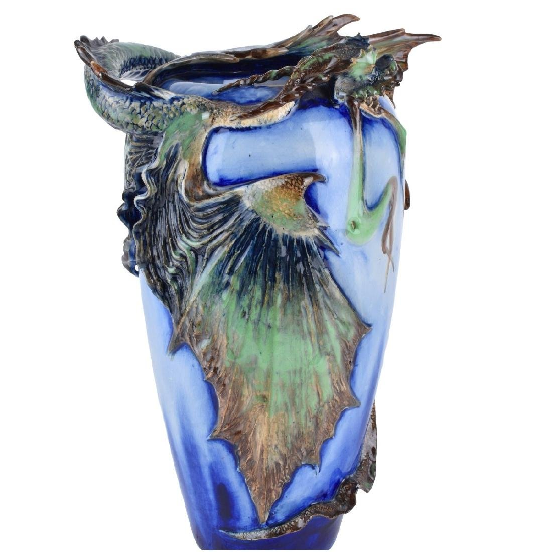 Amphora Art Nouveau Eastern Dragons Vase - 4