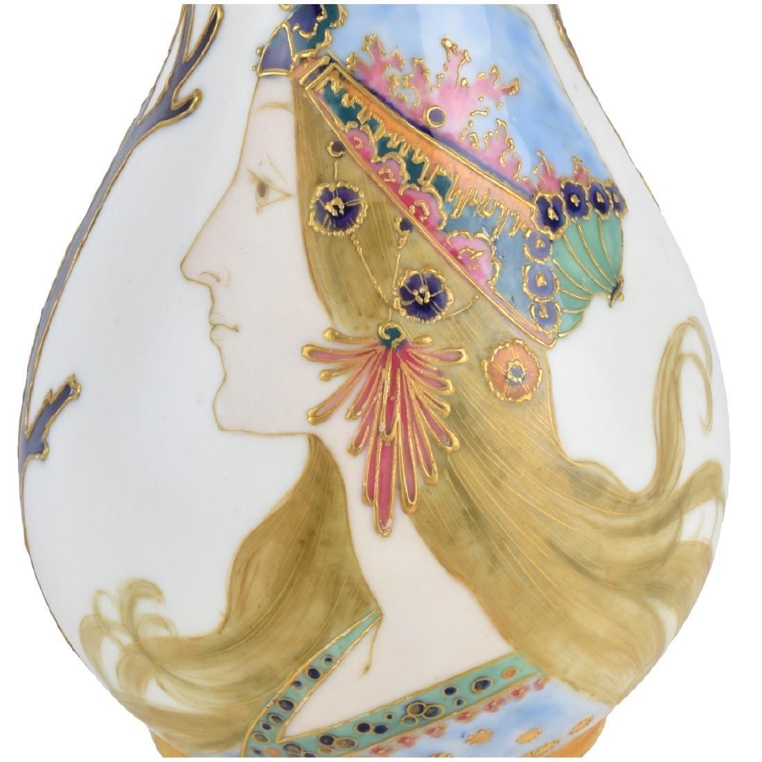 Amphora Maiden Portrait Pottery Vase - 4