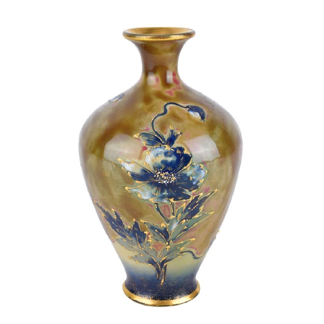 Turn Teplitz Amphora Porcelain Maiden Vase - 2